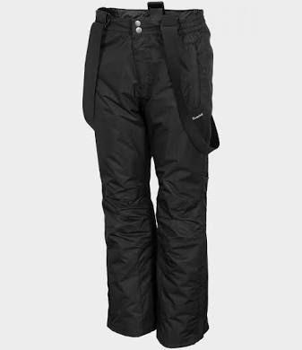 Czarne spodnie narciarskie M jnowe BASECAMP szelki