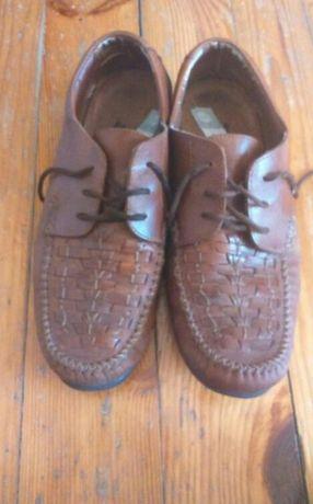Buty męskie skórzane, CAŁE SKÓRZANE, rozmiar 44, wkładka 30 cm