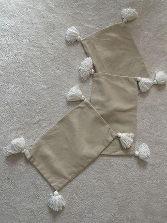 Capas de almofadas branco/beje