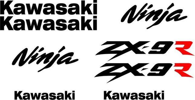 Naklejki KAWASAKI NINJA ZX-9R na Motocykl Motor - Folia Długoletnia !