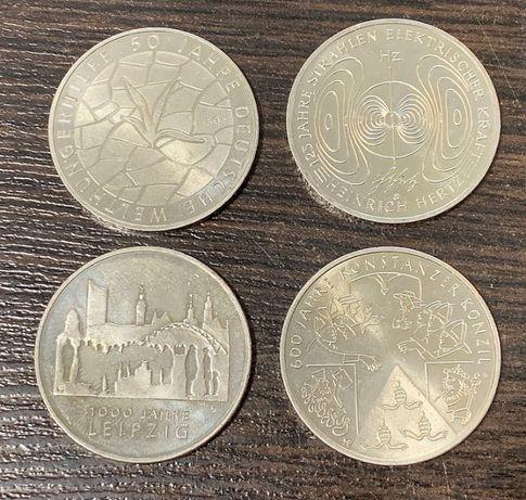 Zestaw 4 monet 10 Euro Konstanzer Konzil, Leipzig, Welthungerhilfe