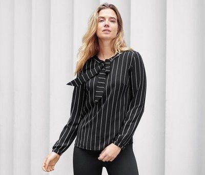 Блуза, рубашка, кофта в полоску с завязками от Tchibo (Германия)