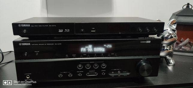 Zestaw Amplituner Yamaha RX-V375 5.1+Blu-ray  Yamaha