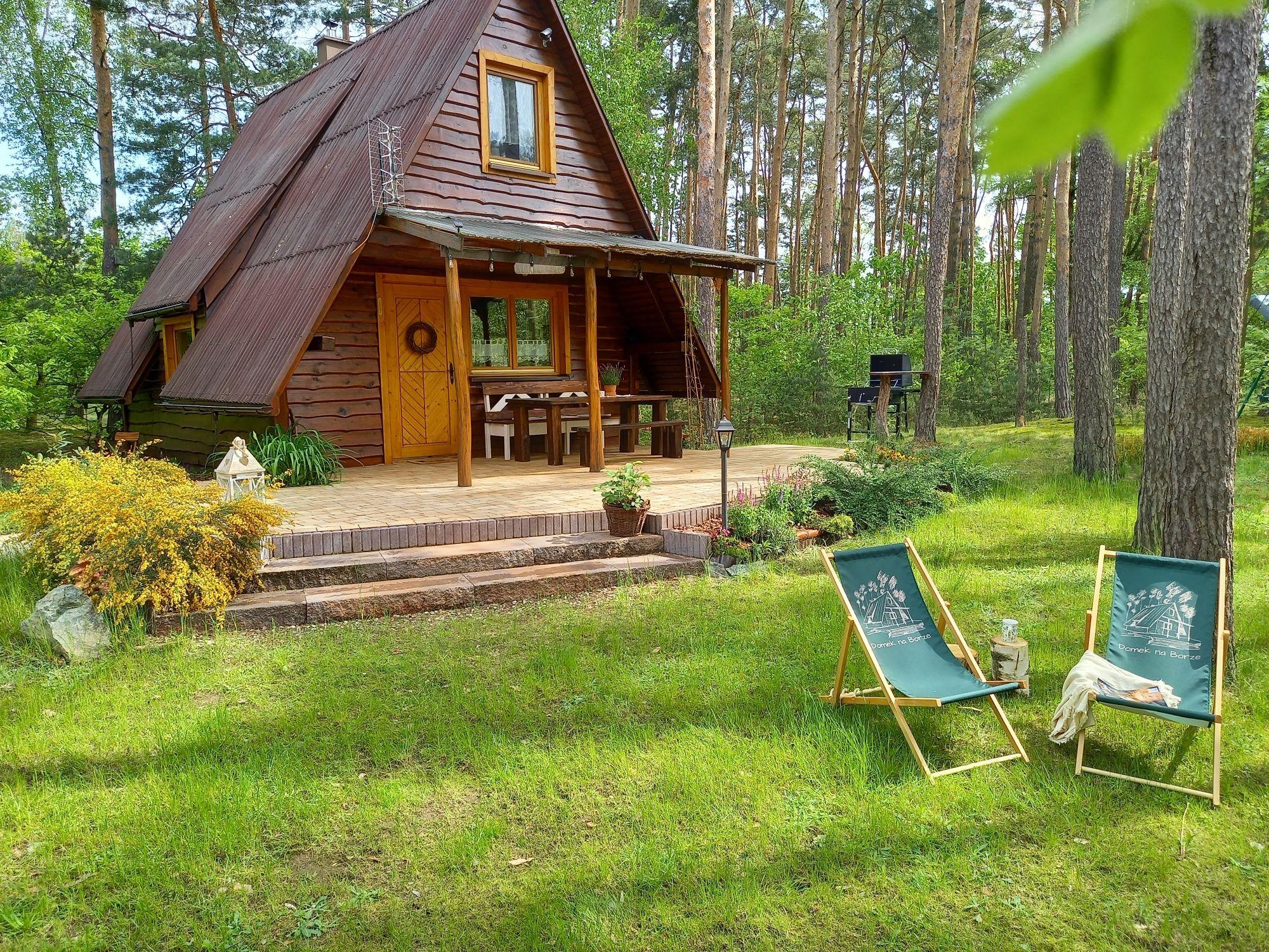 Drewniany domek na wyłączność Domek na Borze nocleg