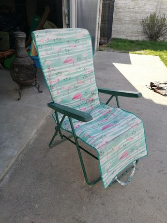 Krzesło ogrodowe turystyczne rozkładane