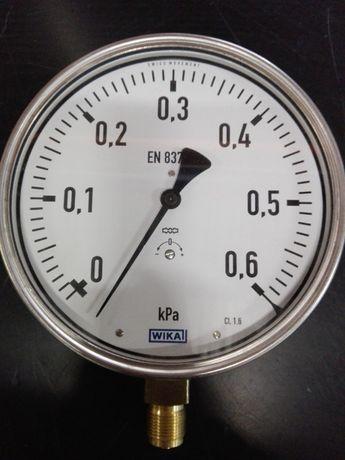 Manometr puszkowy nierdzewny, 0-6 kPa