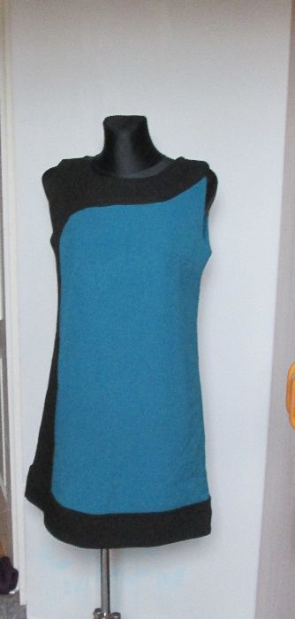 Czarno turkusowa sukienka r. 44 Gliwice - image 1