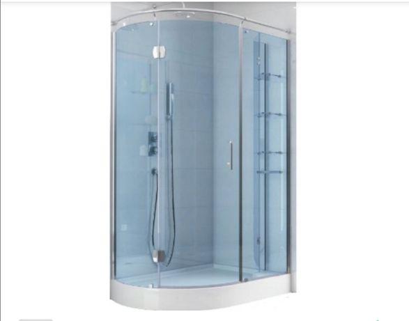 Kabina prysznicowa Aquaform +brodzik asymetryczny Etna  STRONA LEWA