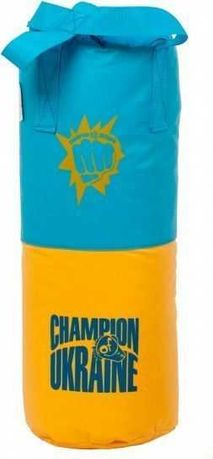 Детская боксерская груша 53x18 см желто-голубой