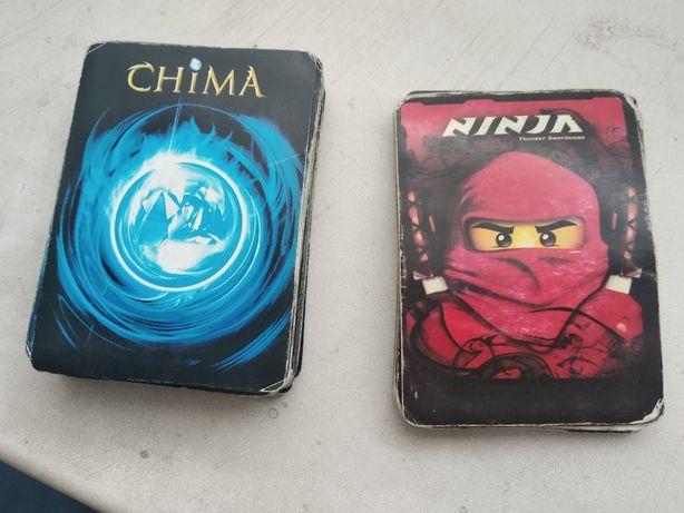 Карточки Лего Чима 39 шт и Ниндзяго 15шт