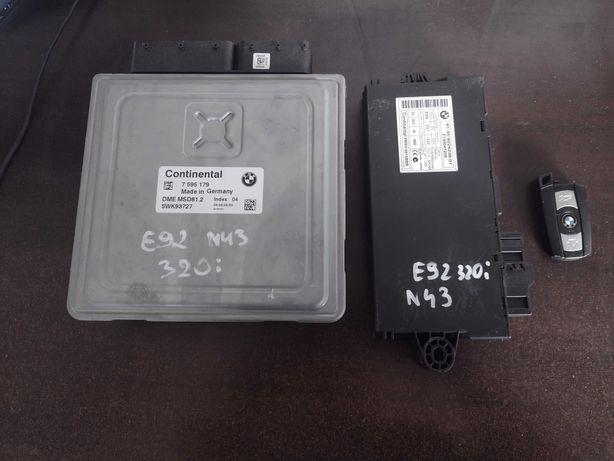 BMW E90 E91 E92 E93 320i N43 komputer sterownika silnika cas klucz