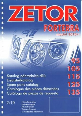 Katalog części ZETOR FORTERRA 95,105,115,125,135