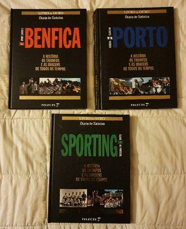Livros Historia dos 3 grandes clubes de Portugal