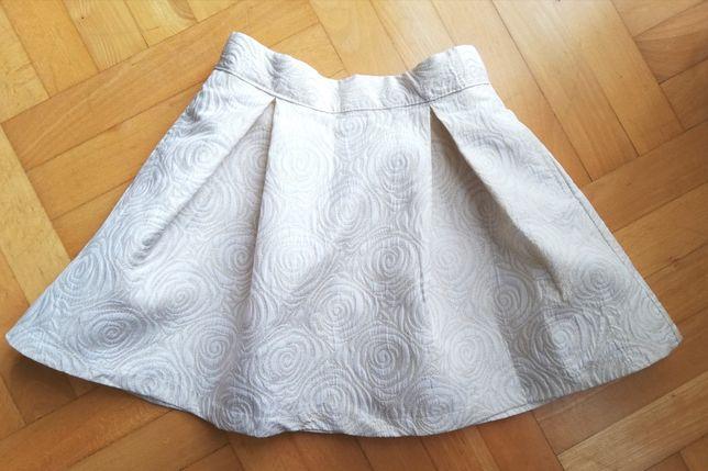 Spódnica elegancka kremowa rozmiar 122 Smyk cool club