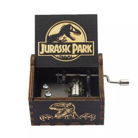 Caixa música Jurassic Park, over the rainbow, prenda aniversário