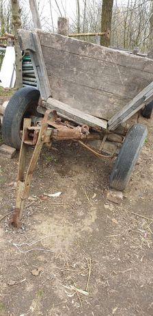 Wóz konny przerobiony do ciągnika