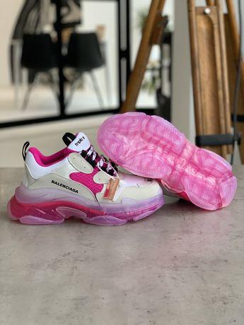 Продам женские кроссовки BALENCIAGA TRIPLE S WHITE PINK