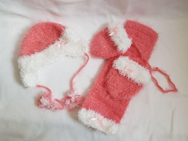 Czapka z szalikiem i rękawiczki dla dziecka