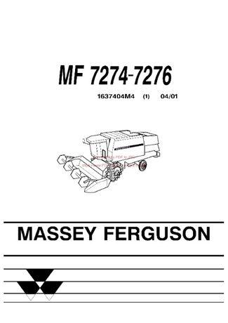 Katalog części kombajn Massey Ferguson 7274.-7276
