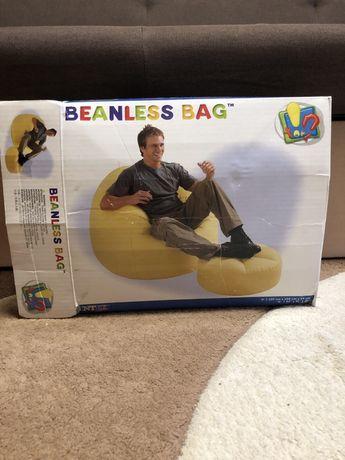 Надувное кресло с пуфиком Beanless bag