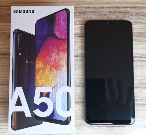 Samsung Galaxy A50 128GB pamięci, czarny, na gwarancji bardzo zadbany