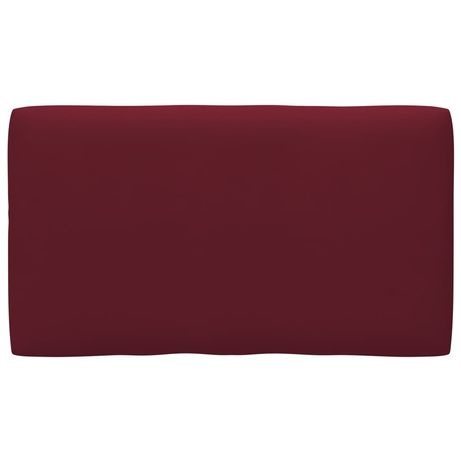 vidaXL Almofadão para sofá de paletes 70x40x12 cm vermelho-tinto 314457