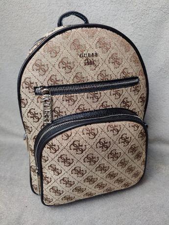 Plecak Leeza brązowy Guess torebka torba logowany HIT Premium