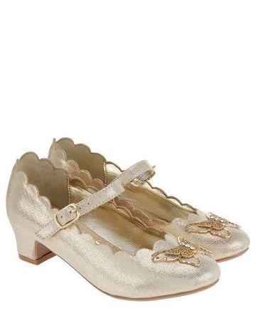 Золотые туфли на каблуках Monsoon 30 размер