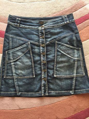 Dżinsowa spódnica mini 42