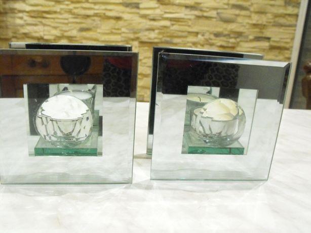 szklane świeczniki GLAMUR