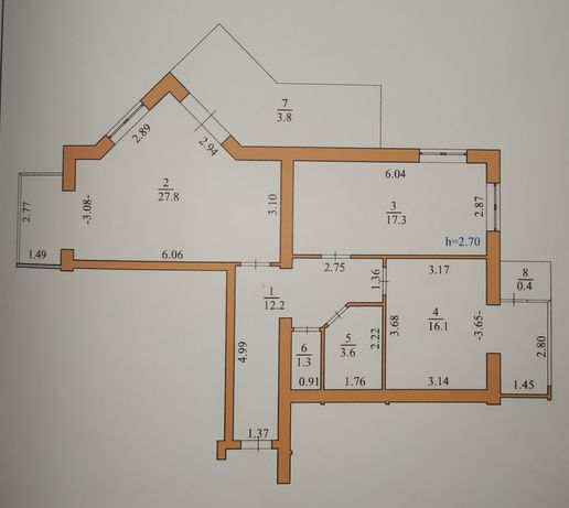 2-кімнатна 3-стороння квартира в обжитій новобудові. Луцьк!