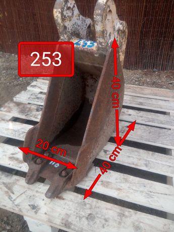 Łyżka 20 cm do mini koparki sworzeń fi 30 mm 20cm łycha 30mm minikopar