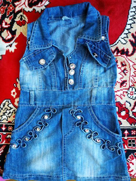 Плаття джинсові для дівчинки