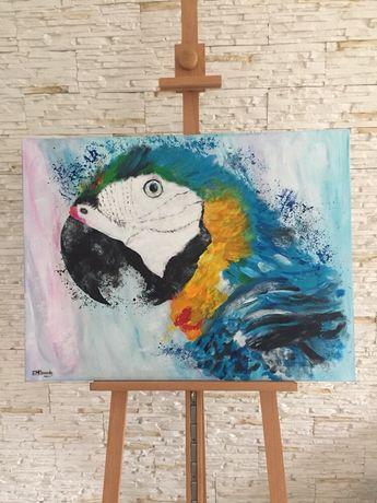 Obraz akrylowy ręcznie malowany NOWY 80x60