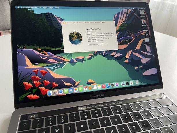 Macbook Pro 2018 i7 16gb 512ssd touchbar gwarancja