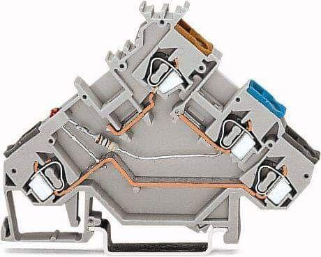Złączka szynowa z LED do czujników PNP 2,5 mm2