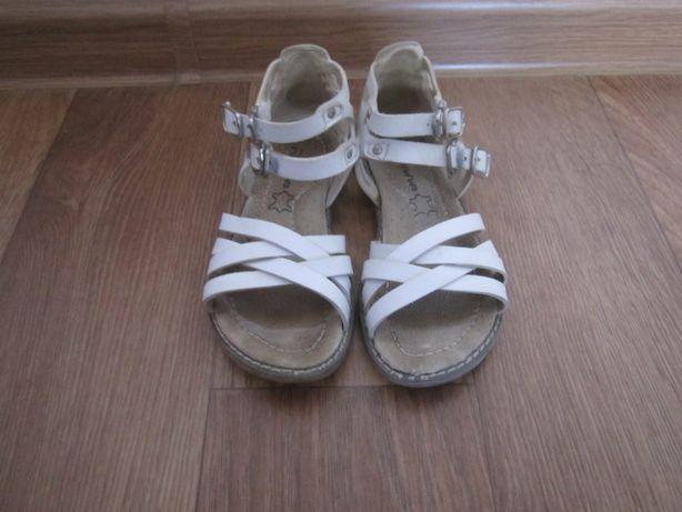 Кожаные сандалии на девочку размер 27