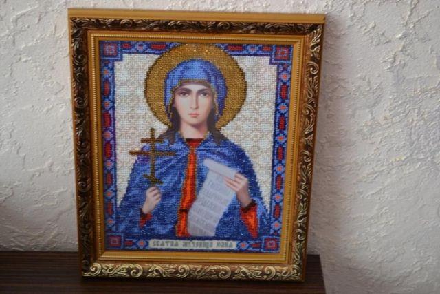 Вышитая иконка св. Анна