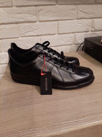 Buty Wojas r. 42 koszarowe skóra licowa nowe czarne półbuty buty 28