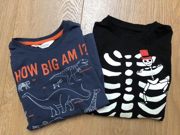 Koszulki z długim rękawem, bluzki r. 110/116 H&M, Halloween