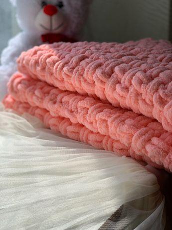 Одеялко детское вязаное