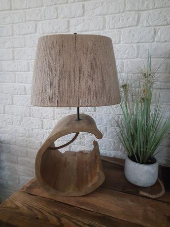 Lampa stolowa handmade drewno
