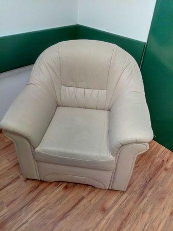 Fotel skórzany beżowy LUBLIN
