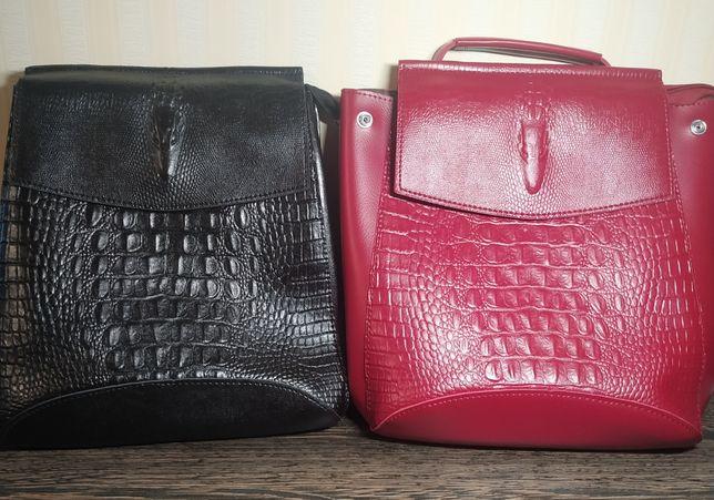 Женский рюкзак черный городской трансформер