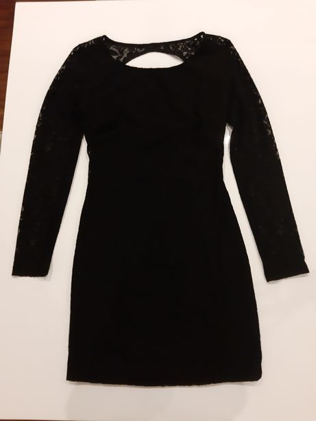 Vestido preto em renda - Zara
