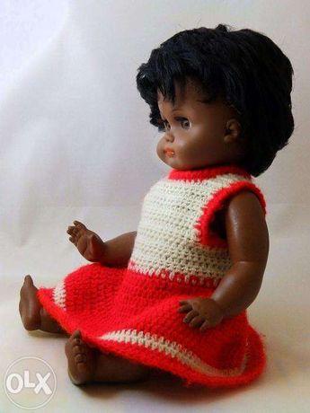 РЕДКАЯ Кукла 1950-х негритянка ГДР Германия клеймо Hans Volk HV