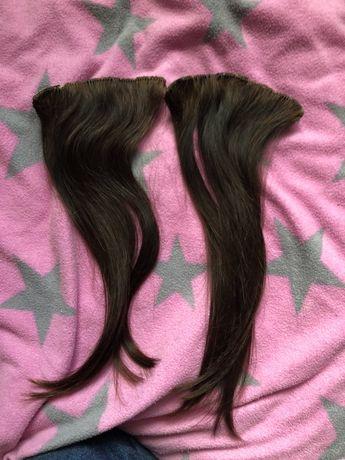 Włosy clip in naturalne brąz