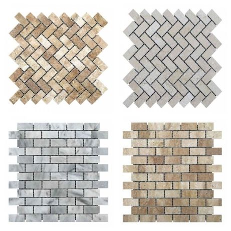 Мраморная мозаика, мрамор, травертин, плитка, Коричневая,не стеклянная