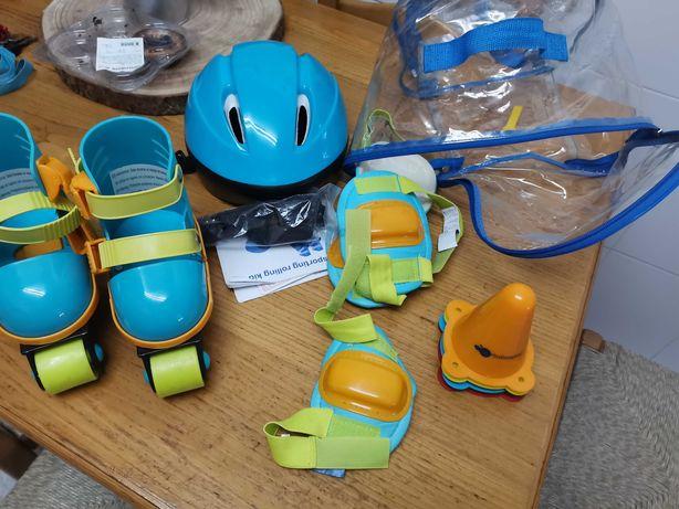 Vendo patins kit completo da imaginarium