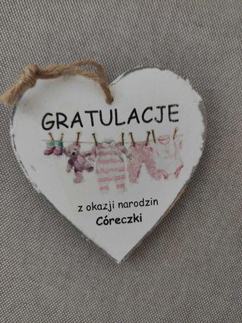 Gratulacje z okazji narodzin coreczki handmade